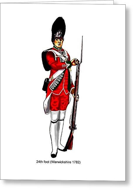 British Uniforms Greeting Card by Valiant Knight