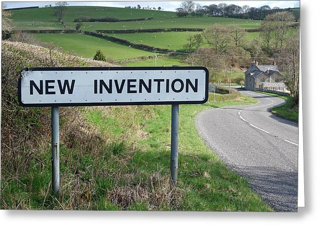 New Britain Greeting Cards - British Village with a New Invention Greeting Card by Mountain Dreams
