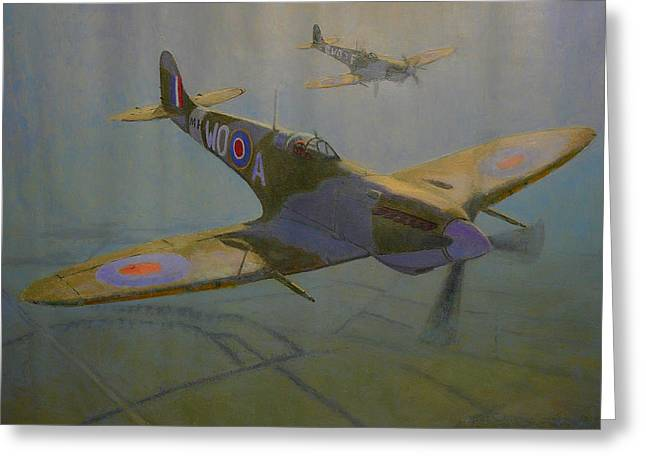 Terry Perham Paintings Greeting Cards - British Warbirds Greeting Card by Terry Perham