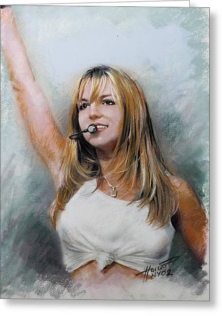 Entertainer Drawings Greeting Cards - Britney Spears Greeting Card by Viola El