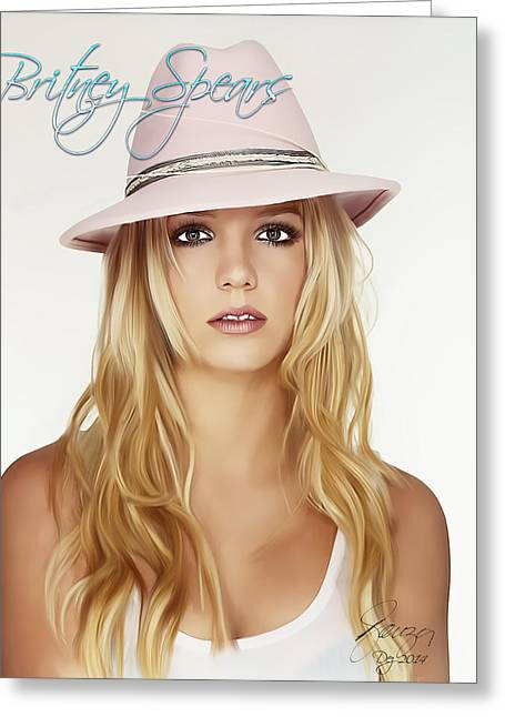 Britney Spears Greeting Cards - Britney Spears Greeting Card by Paulo Souza
