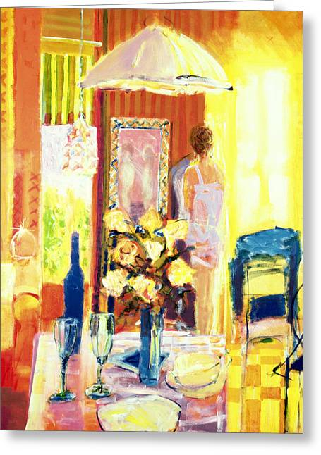 Interior Still Life Greeting Cards - Brittany, 2001 Acrylic On Canvas Greeting Card by Martin Decent
