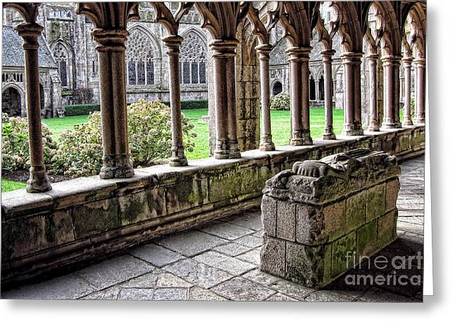 Cloister Greeting Cards - Brittany Cloister  Greeting Card by Olivier Le Queinec