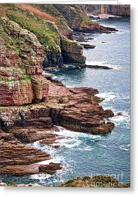 Rocky Coastline Greeting Cards - Brittany Coast Greeting Card by Olivier Le Queinec