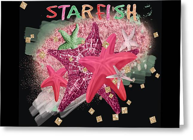 Star Fish Greeting Cards - Brittle Stars Starfish Greeting Card by Debra  Miller