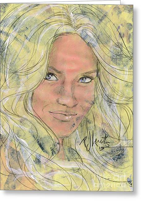 Controversial Greeting Cards - Brittney Greeting Card by P J Lewis