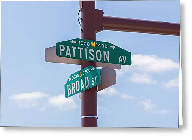 Broad and Pattison Where Philly Sports Happen Greeting Card by Photographic Arts And Design Studio
