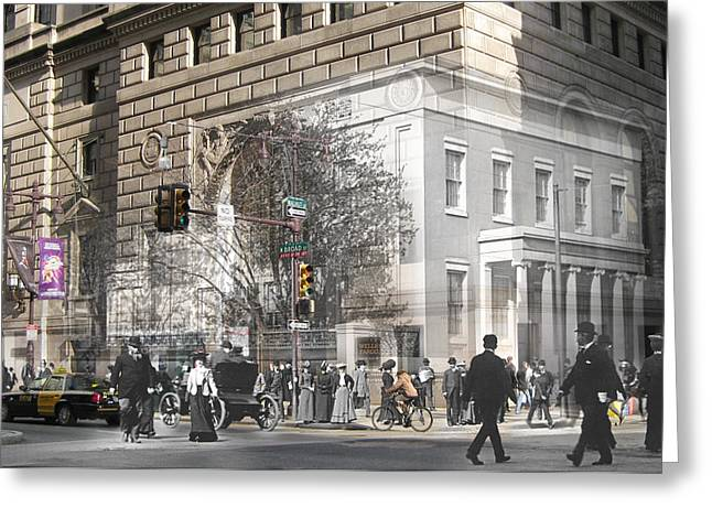 Philadelphia History Greeting Cards - Broad and Walnut Greeting Card by Eric Nagy