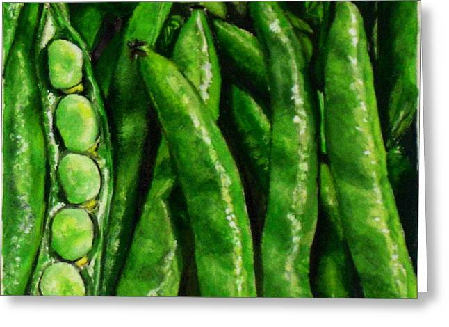 Broad Beans Greeting Card by Arual Jay