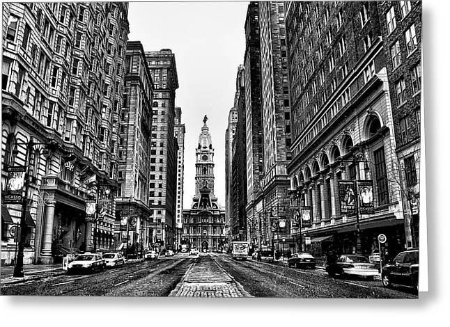 Philadelphia Digital Art Greeting Cards - Broad Street  Greeting Card by Bill Cannon