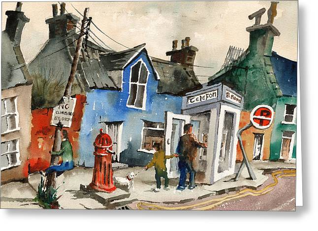 Quirky Greeting Cards - Broadband is coming Greeting Card by Val Byrne