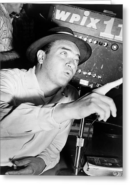 Famous Person Greeting Cards - Broadcaster Mel Allen 1955 Greeting Card by Mountain Dreams