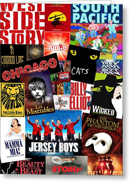 Broadway 1 Greeting Card by Andrew Fare