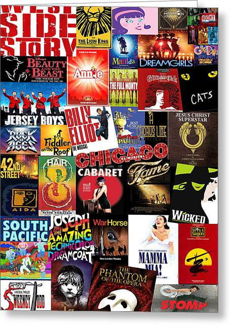 Broadway Greeting Cards - Broadway 4 Greeting Card by Andrew Fare