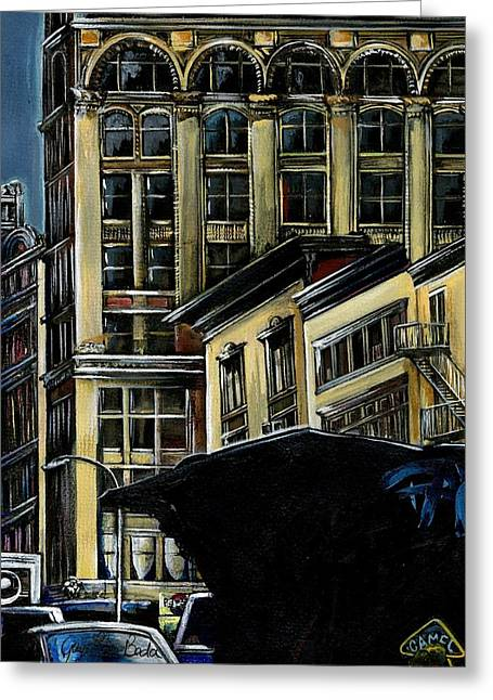 Union Square Paintings Greeting Cards - Broadway Best New York City Greeting Card by Gaye Elise Beda