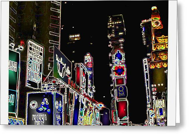 Broadway Greeting Card by Joan  Minchak