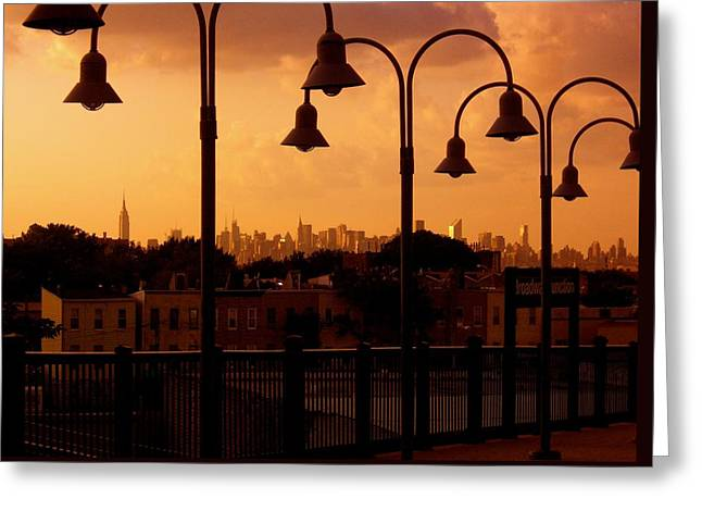 Broadway Junction In Brooklyn Greeting Card by Monique Wegmueller