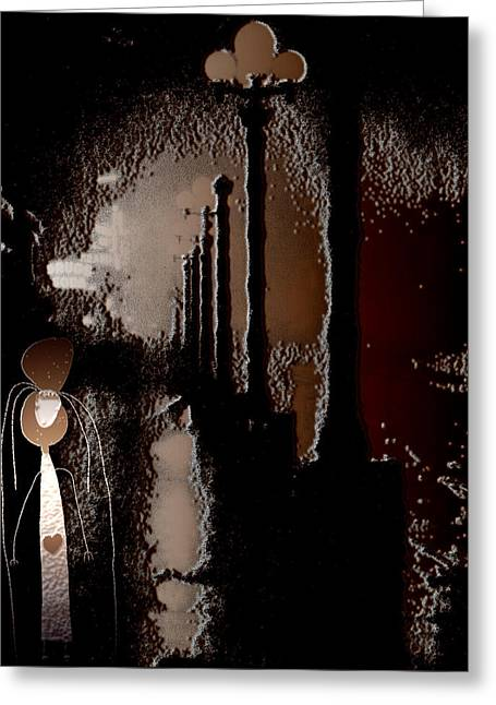 New At Digital Greeting Cards - Broadway Meets the West Village at Night Greeting Card by Natasha Marco