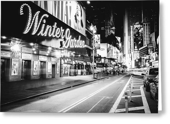 Broadway Greeting Cards - Broadway Theater - Night - New York City Greeting Card by Vivienne Gucwa