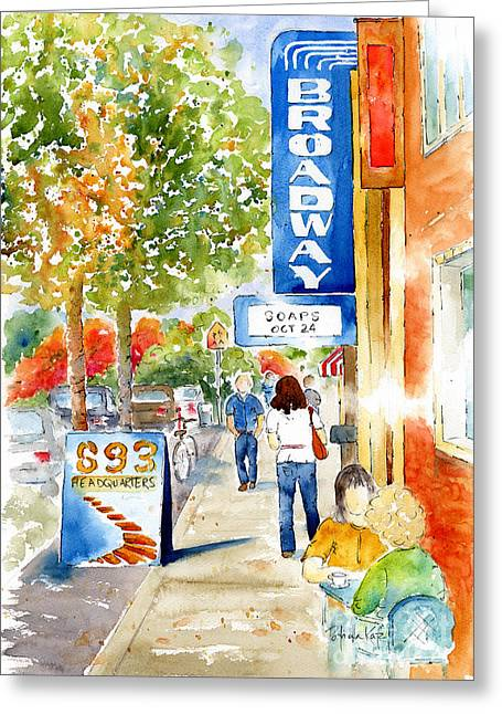 Sienna Greeting Cards - Broadway Theatre - Saskatoon Greeting Card by Pat Katz