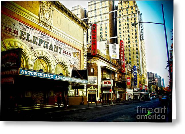 Entrance Door Greeting Cards - Broadway Theatres 1 Greeting Card by James Aiken