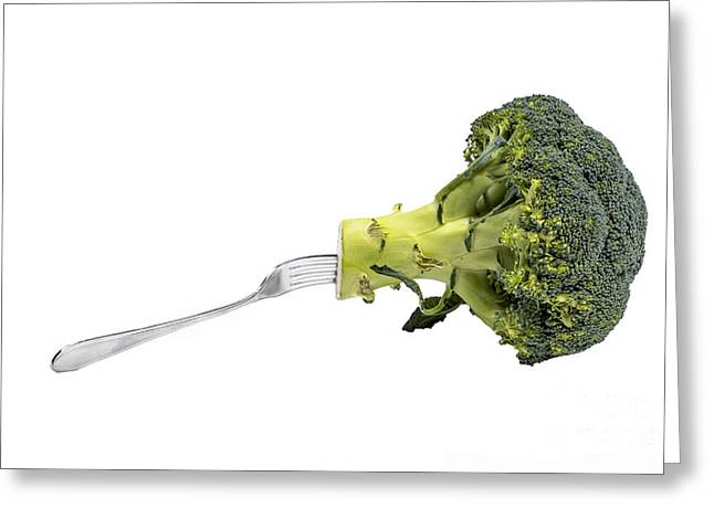 Broccoli Photographs Greeting Cards - Broccoli is healthy food Greeting Card by Patricia Hofmeester