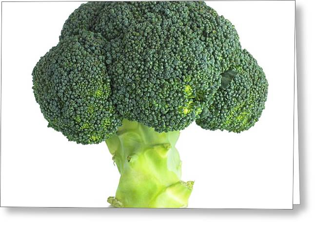 Broccoli Greeting Card by Science Photo Library