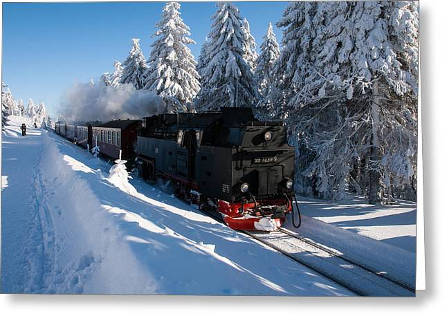 Stein Greeting Cards - Brockenbahn Greeting Card by Andreas Levi