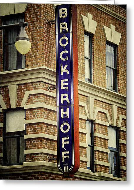 Store Fronts Greeting Cards - Brockerhoff Greeting Card by Laurie Perry