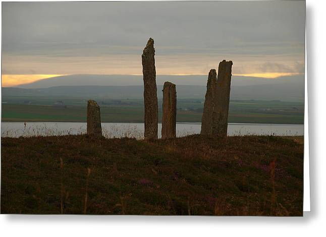 Monolith Greeting Cards - Brodgar in the Morning Greeting Card by Michaela Perryman