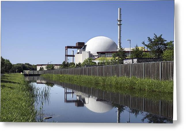 21st Greeting Cards - Brokdorf nuclear power station, Germany Greeting Card by Science Photo Library
