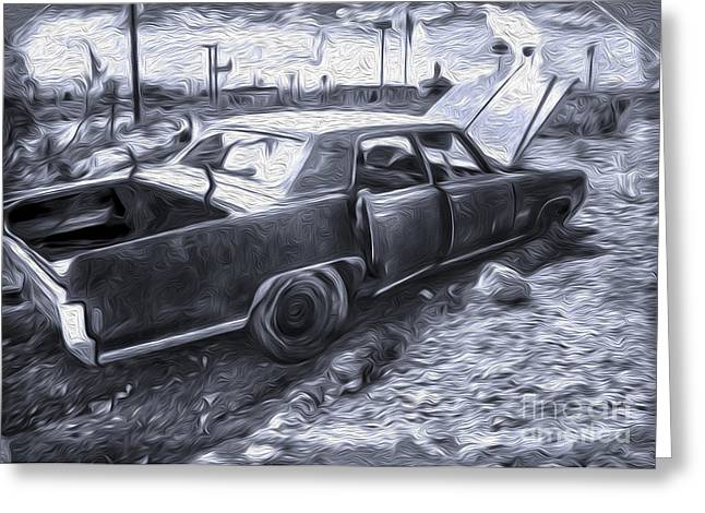 Gregory Dyer Greeting Cards - Broke Down in Barstow Greeting Card by Gregory Dyer