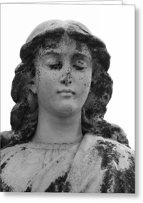 Statue Portrait Photographs Greeting Cards - Broken Angel b Greeting Card by Jerry Cordeiro