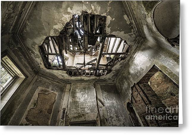 Oniric Greeting Cards - Broken Ceiling  Greeting Card by Svetlana Sewell