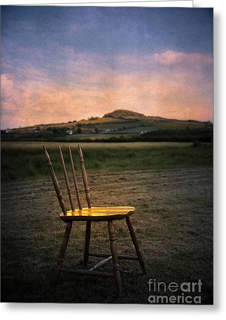 Empty Chairs Digital Greeting Cards - Broken Chair Greeting Card by Svetlana Sewell