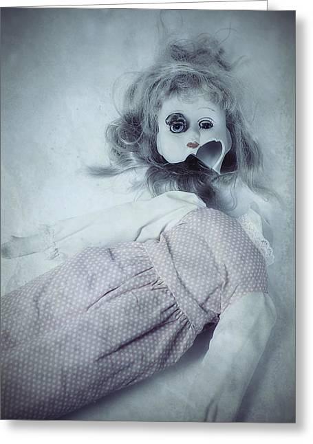 Eerie Greeting Cards - Broken Doll Greeting Card by Joana Kruse
