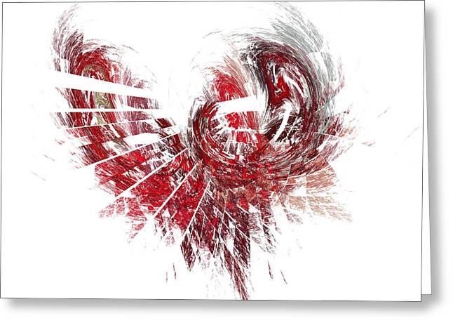 Broken Heart Greeting Card by Mark Bowden
