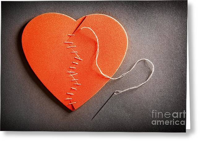 Divorce Greeting Cards - Broken Heart On The Mend Greeting Card by Sharon Dominick