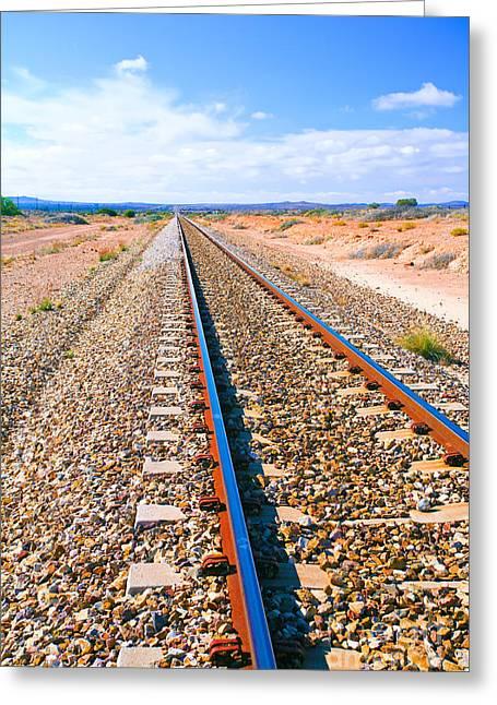 Broken Greeting Cards - Broken Hill Railway Line  Greeting Card by Bill  Robinson