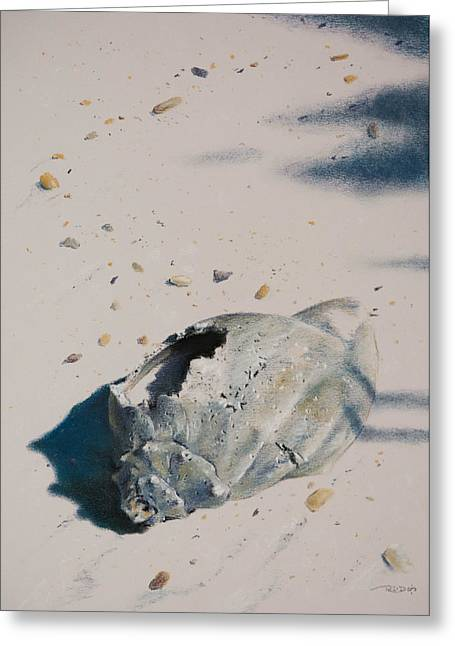 Still Life Pastels Greeting Cards - Broken Home Abandoned Greeting Card by Christopher Reid