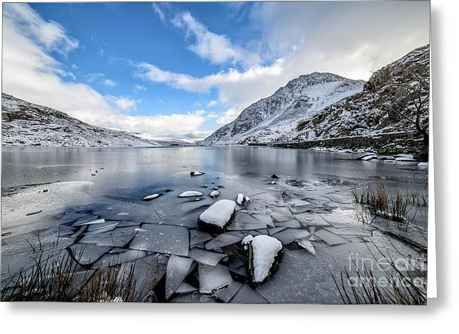 Winter Landscape Digital Greeting Cards - Broken Ice Greeting Card by Adrian Evans