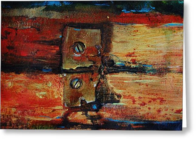 Hardware Paintings Greeting Cards - Broken Greeting Card by Jean Cormier