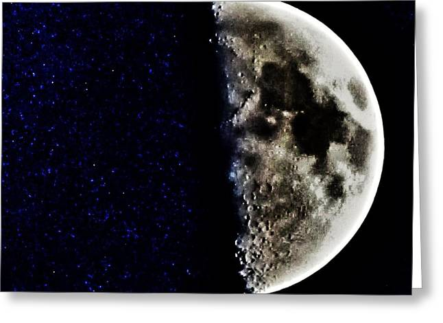 Spooky Moon Greeting Cards - Broken  Greeting Card by Marianna Mills