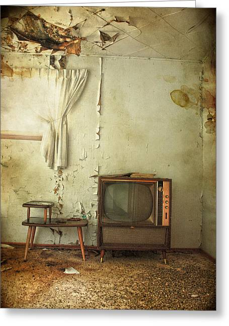 Old Tv Photographs Greeting Cards - Broken Radio  Greeting Card by Jerry Cordeiro