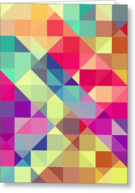 Broken Rainbow II Greeting Card by VessDSign
