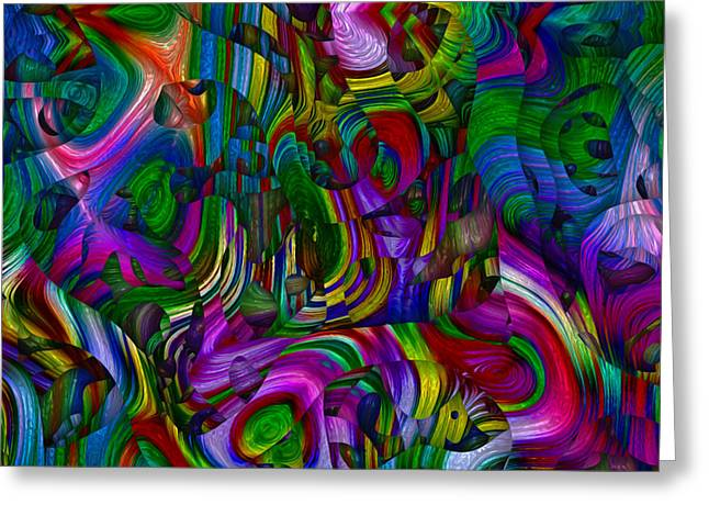 Abstracted Colorful Reality Greeting Cards - Broken Rainbow Greeting Card by Jack Zulli