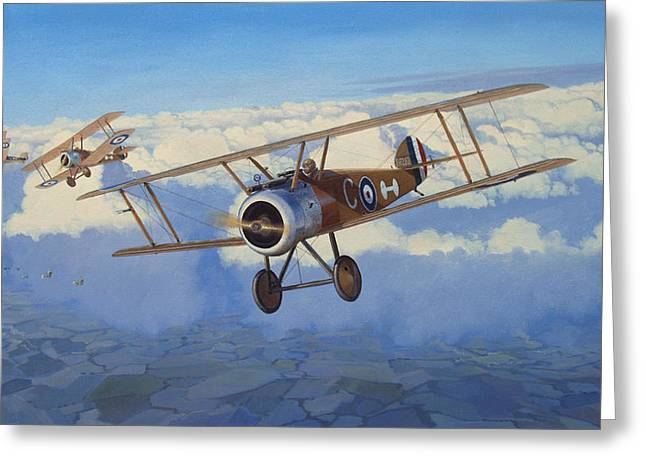 Military Airplanes Paintings Greeting Cards - Broken Reverie Greeting Card by Steven Heyen