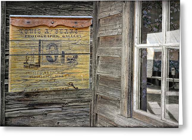 Barkerville Greeting Cards - Broken Shingle Greeting Card by Ed Hall
