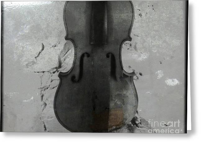Violin Digital Greeting Cards - Broken Sound Greeting Card by Steven  Digman