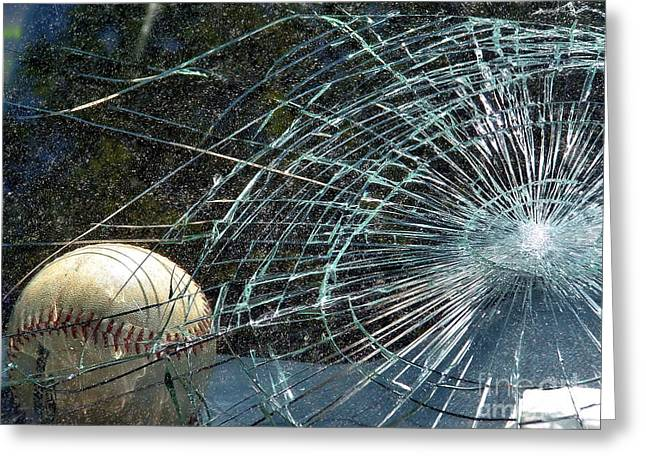 Interior Scene Greeting Cards - Broken Window Greeting Card by Robyn King